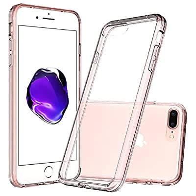 iPhone 7 Plus Clear Case,AnoKe [Scratch Resistant] Acrylic Hard Cover With Rubber TPU Bumper Hybrid Ultra Slim Protective for Apple iPhone 7 Plus