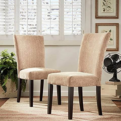 Camel Chenille Asian Rubberwood Construction Industrial Coil Spring Supported Seat Deck For Durability Classic Upholstered Dining Chair (Set Of - Classic Spring Club Chair Frame