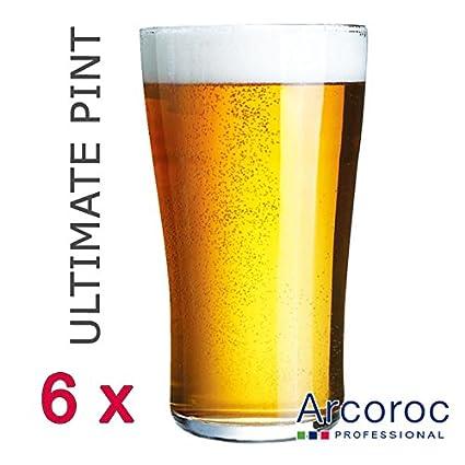 Arcoroc ARC G8563 - Vaso de cerveza (cristal): Amazon.es: Hogar