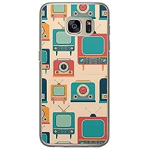 Loud Universe Samsung Galaxy S7 Retro Pattern Telecast Design Transparent Edge Case - Multi Color