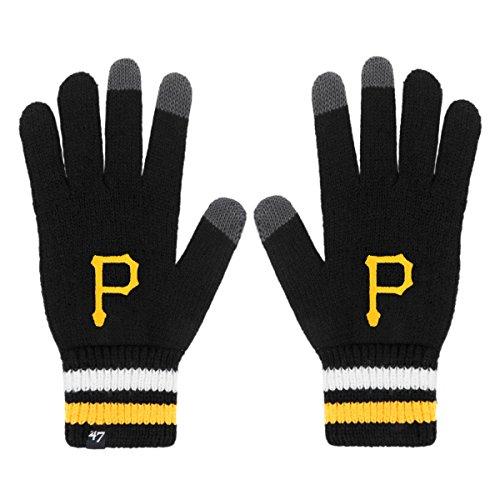 MLB Pittsburgh Pirates '47 Jumble Gloves, One Size, Black