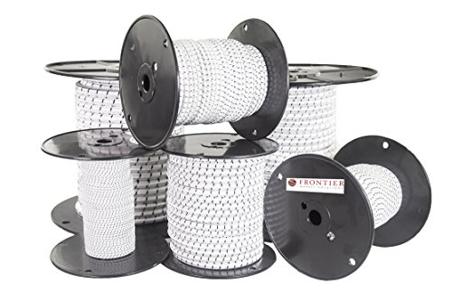 FMS Elastic Shock Bungee Cord - (1/2-in x 150 FT) Heavy Duty Bungy Cordage in Multiple Diameters and Lengths For DIY Projects, Tie Downs, and More - Customize With FMS Shock Cord Hooks by FMS