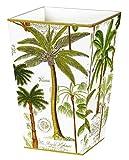 Trash Can Garbage Can Bin Wastebasket Bathroom Décor Tropical Palms Design