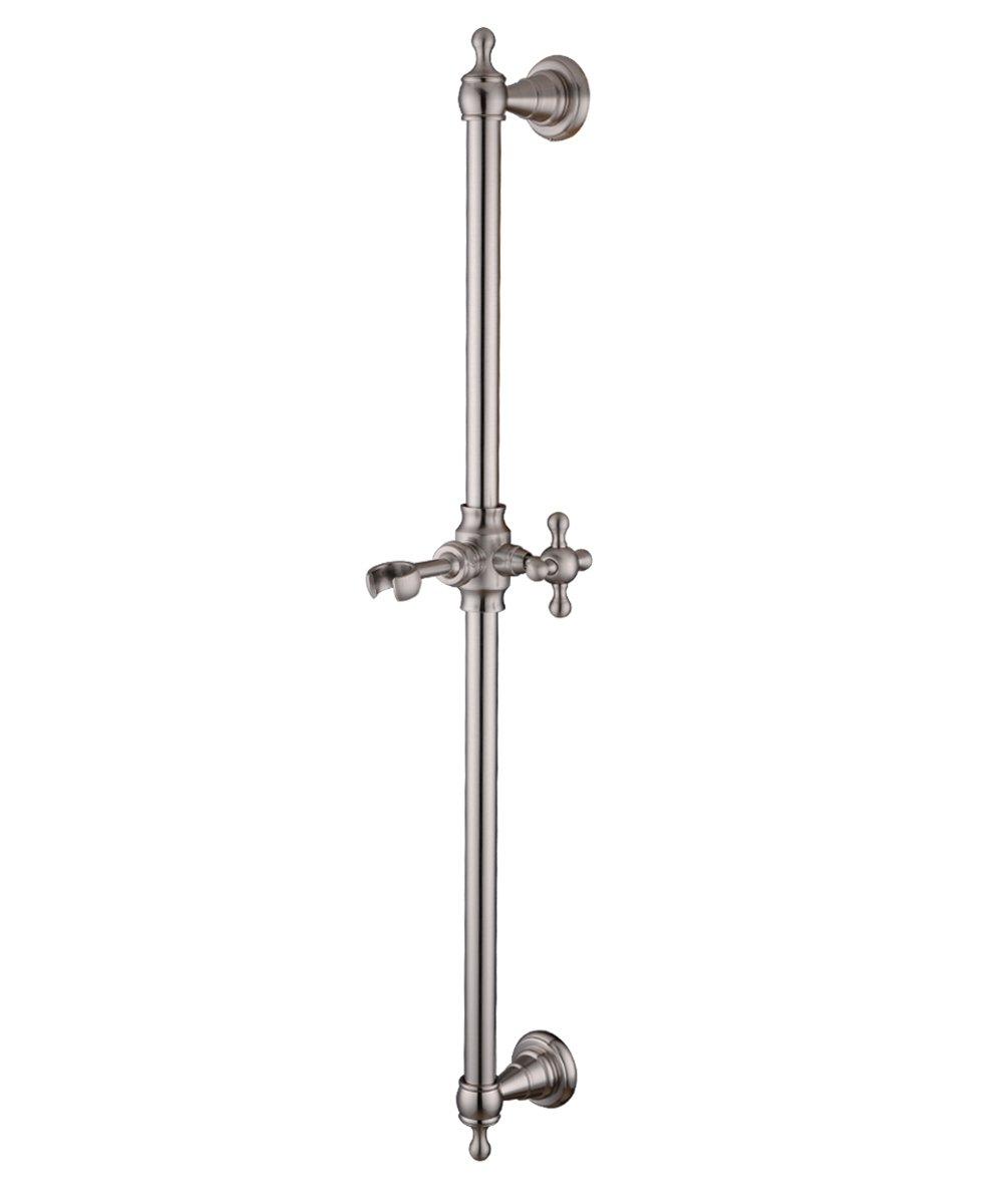 HANEBATH Brass Hand Shower Slide Bar with Brass Height Adjustable Sliding,Brushed Nickel