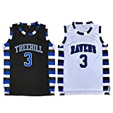Lucas Scott #3 One Tree Hill Ravens Throwback Basketball Jersey S-XXL (XX-Large, Black)