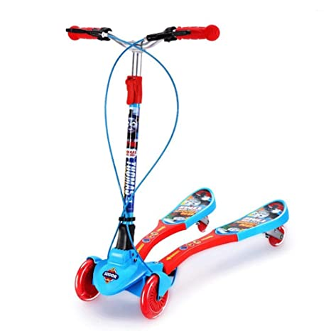 KOBOOW Patinete Scooter Patinete con 4 Ruedas PU con Led ...