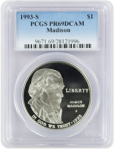 1993 S Madison/Bill of Rights Commemorative Dollar PR69DCAM PCGS