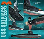 USS Skipjack Submarine 1/72 Moebius Over 40 inches Long from Moebius Models