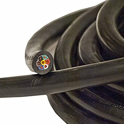 ALEKO TC71420 Heavy Duty 14 Gauge 7 Way Conductor Wire RV Trailer Cable Cord, 20': Automotive