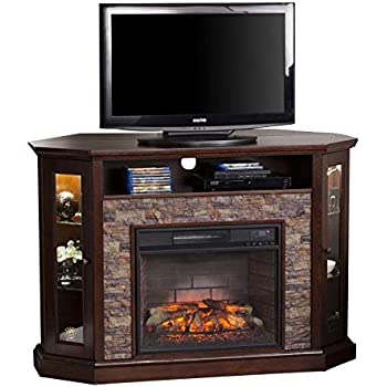 Amazon Com We Furniture 48 Quot Corner Tv Stand Fireplace