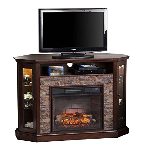 Southern Enterprises Redden Corner Electric Fireplace TV ()