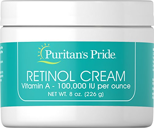 Puritan's Pride Retinol Cream (Vitamin A 100,000 IU Per Ounce)-8 oz Cream