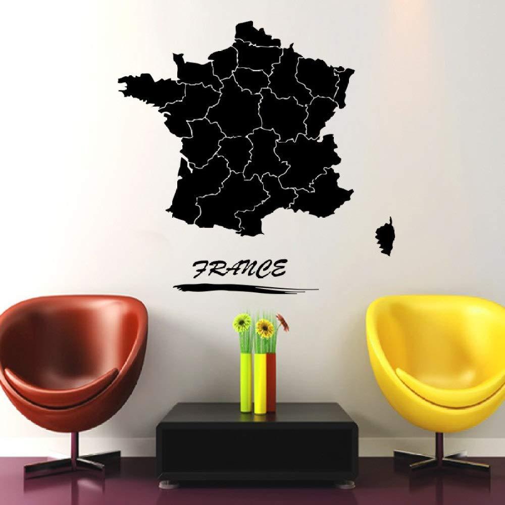 xingbuxin Mapa de Francia Tatuajes de Pared Pegatinas de Viaje ...