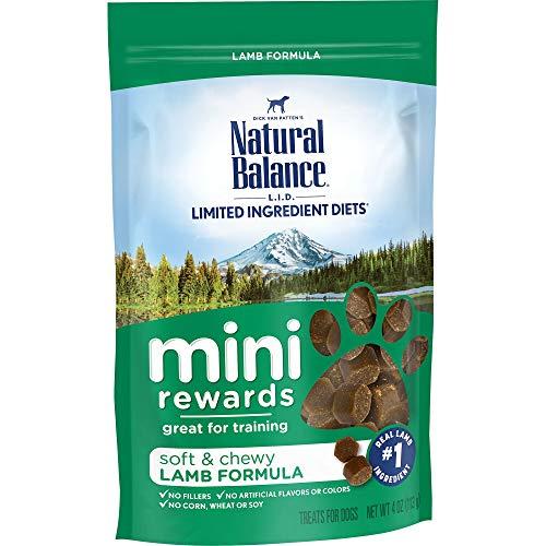 Natural Balance Mini Rewards Dog Treats, Lamb Formula, 4-Ounce
