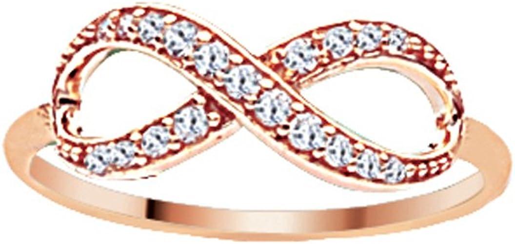 Ss E2W Infinity Ring DiamondJewelryNY Infinity Ring
