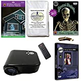 Christmas and Halloween Digital Decoration Kit includes 800 x 480 Resolution Projector, Hollusion (W) + Reaper Bros Rear Projection Screens, Santa in Window and Ghosts & Spirits