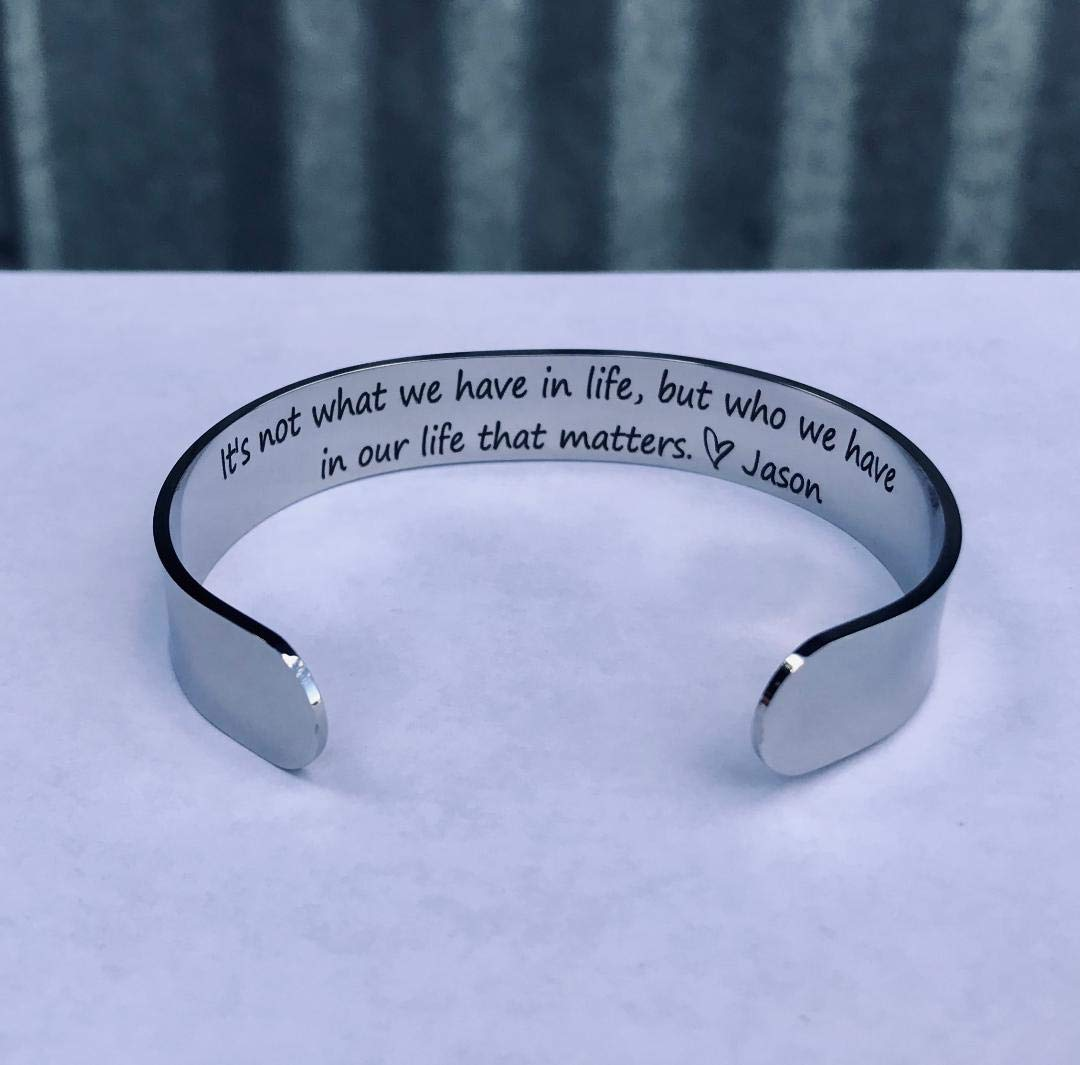 Knot Cuff Bracelet Gift for Best Friend Aunt 30th Birthday GirlFriend Christmas Silver Nail Bracelet Bangle Wife Mom 21st