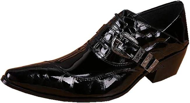 ZPML Cowboy Hombres Botas de Vaquero Botines Botas de Cuero ...