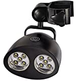 Hot Barbecue Grill Light with 10 Super Bright LED Lights - Durable, Weather Resistant, Powerful LED BBQ Light for Any Gas/Charcoal/Electric Grill (Black)
