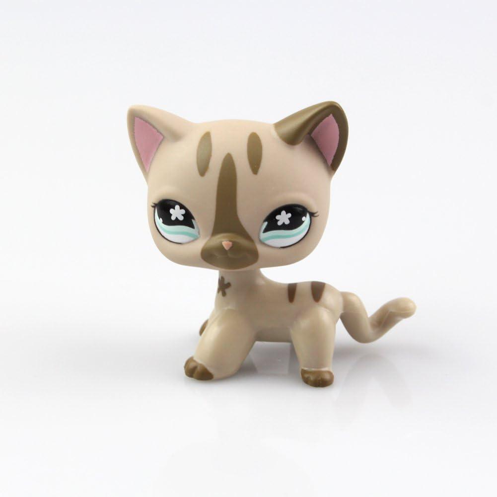 Littlest Pet Shop Animal Puppy Sparkle Pink Short Hair Cat Figure Child Toy