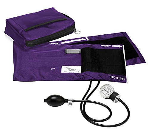 Prestige Medical Premium Adult Aneroid Sphygmomanometer, Purple, X-Large, 15.00 Ounce