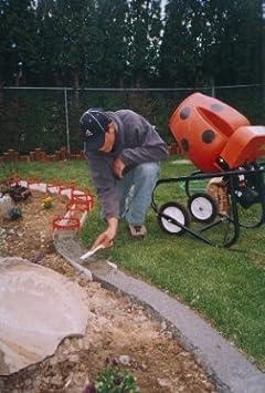 Amazoncom Kurb Kit Power Concrete Mixers Garden Outdoor - Concrete lawn edging molds