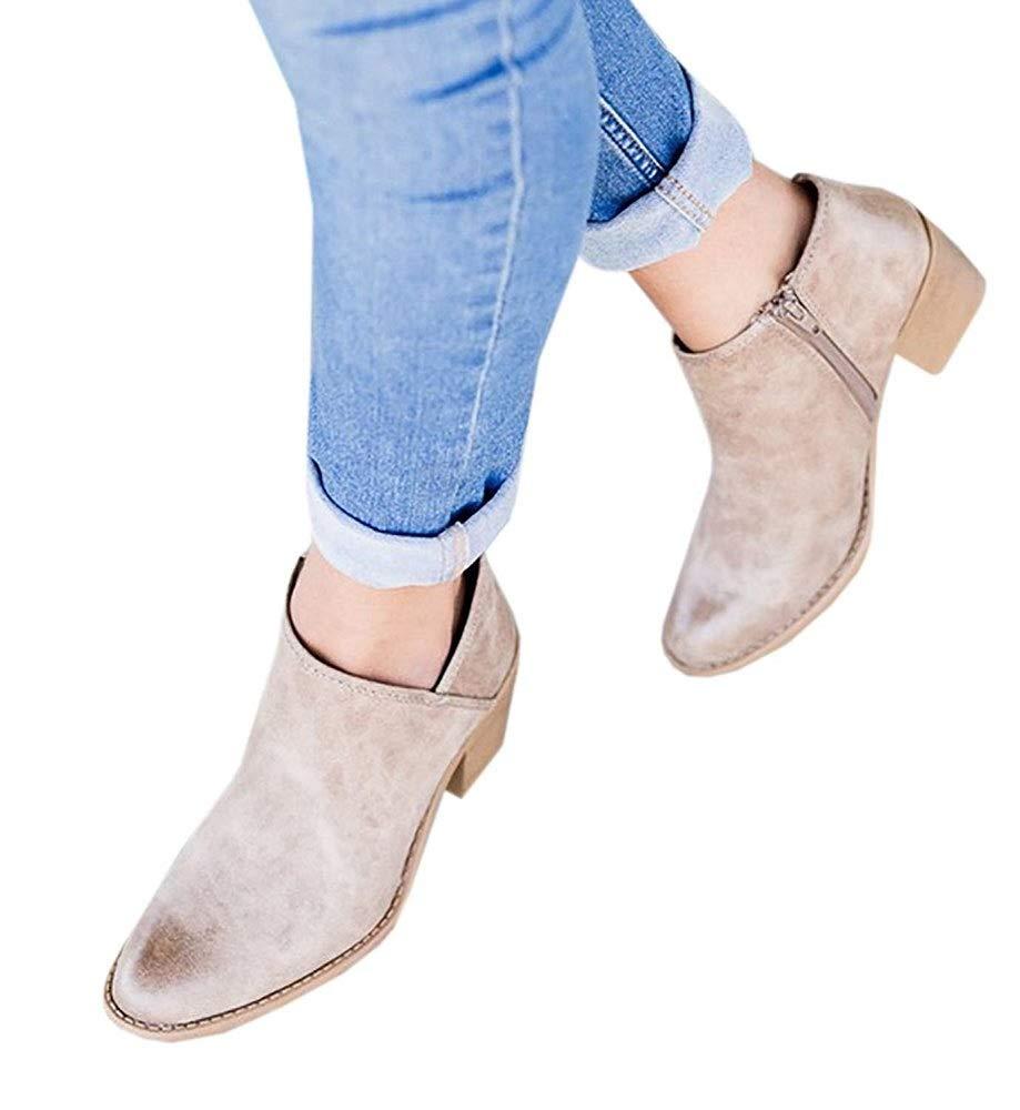 919b03a6e15e Bottine Femmes Plates Boots Femme Cuir Cheville Basse Bottes Talon Chelsea  Chic Compensé Grande Taille Chaussures Agrandir l image