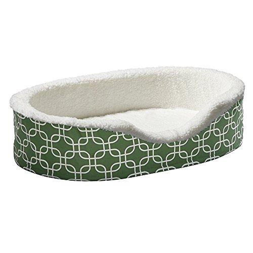 Orthoperdic Egg-Crate Nesting Pet Bed w/ Teflon Fabric Protector, Large Green