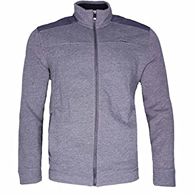 Calvin Klein Jeans Men's Full-Zip Fleece Mock Neck Sweatshirt Jacket (Medium, Grey Heather)
