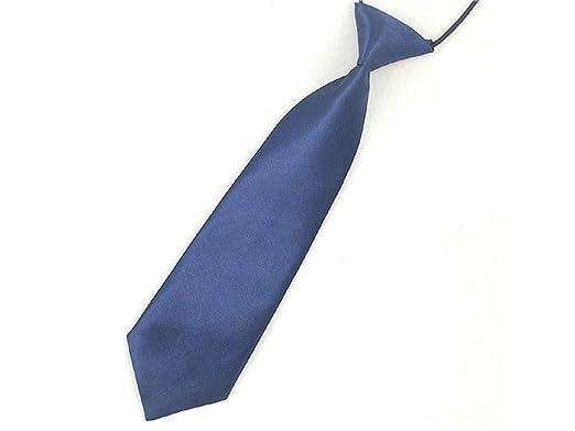 LridSu Corbata Flaca de Microfibra Tejida para niño (Azul Marino ...