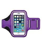 iPhone 5S/5 Armband, J&D Sports Armband for Apple iPhone 5S/5, Key holder Slot