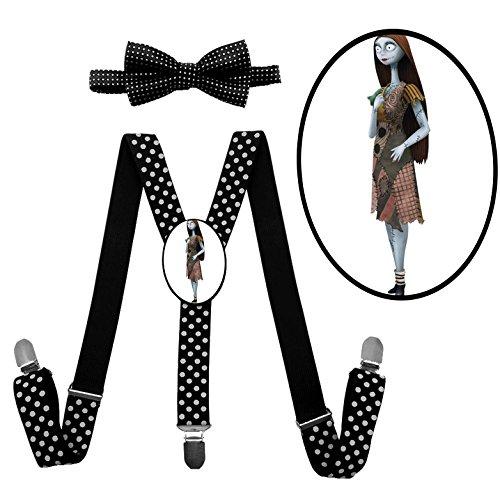 Mr Oogie Costume Boogie (LSL Sally Suspender+Bow Tie/Unisex Suspender/Adjustable Suspender/Y-Back)
