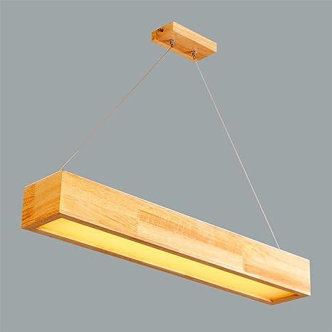Ywyun Lámparas rectangulares de madera de estilo japonés ...