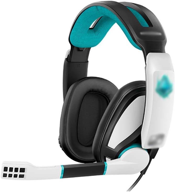 ZZL Auriculares Suaves para Auriculares de 3,5 Mm Auriculares para Las Orejeras con El Micrófono de Cancelación de Ruido para PC, Portátil, PS5, Xbox One Controller