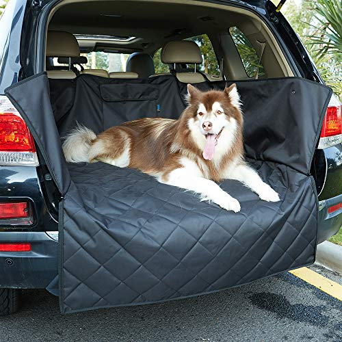 INNX Cargo Cover Cargo Liner-2018 Popular Design Universal for Ford,Jeep,Trucks,Chevrolet,Pickup,Dogs,Pets, Waterproof Heavy Duty and Nonslip, Size 52″ L x 41″ W x 17.7″ H, Black
