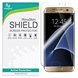 RinoGear for Galaxy S7 Edge Screen Protector [Active Protection] (Edge-to-Edge) Flexible HD Invisible Clear Shield Anti-Bubble Film