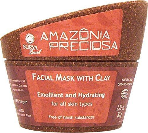 "Amazonia Preciosa Face Care Facial Mask with Clay Surya Nature, Inc 2.82 oz (80g by ""Surya Nature, Inc"""