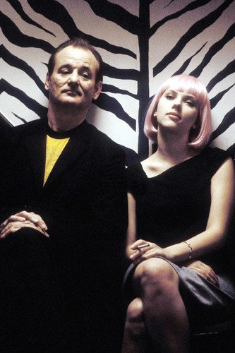 Lost in Translation Bill Murray Scarlett Johansson 24x36 Movie Poster in zebra elevator from Silverscreen