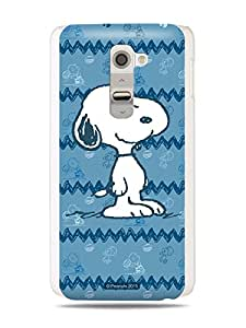 GRÜV Premium Case - 'Peanuts Snoopy Charlie Brown Football' Design - Best Quality Designer Print on White Hard Cover - for LG G2 Optimus D800 D801 D802 D80