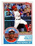 Victor Robles baseball card rookie 2018 Topps Chrome #27 Silver Pack 1983 Insert Edition Refractor (Washington Nationals)