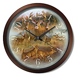 Reflective Art 15 White Tail Collage Classic Clock