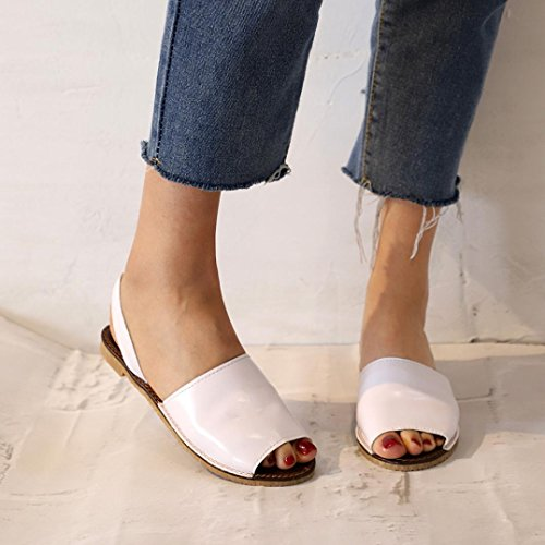 Soft Mouth White Shoes Fish Sandals AmyDong Womens Summer Sandals Shoes Flat Espadrilles Holiday Soled AAzZYwx