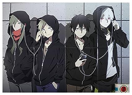Promo BIG Poster Mekakucity Actors Kagerou Project Kamigami no Asobi Kano Kido Shintaro Konoha A7757