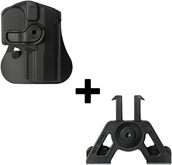 IMI-Defense Tactical retention rotating 360 roto paddle polymer Holster + Molle adapter attachment for Walther M1