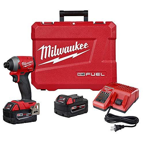 Milwaukee 2853-22 M18 FUEL 1/4″ Hex Impact Driver XC Kit