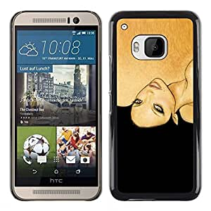 Plastic Shell Protective Case Cover    HTC One M9    Black Woman Fashion Hair @XPTECH