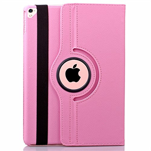 iPad Pro 9.7 Case , ZYSTERT Luxury 360 Degree Rotating Stand Series Defender Cover Case for Apple iPad Pro 9.7 inch - 2016 ( Pink )
