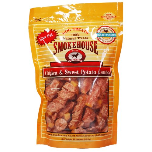 Smokehouse 100-Percent Natural Chicken and Sweet Potato Combo Dog Treat, 16-Ounce, My Pet Supplies