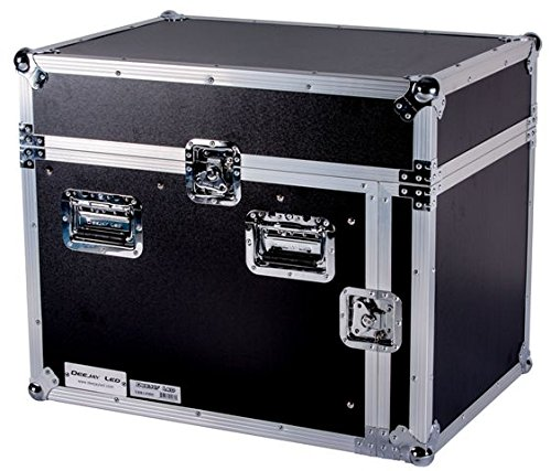 DEEJAY LED TBH14M8U Fly Drive Case 14u Space Slant Mixer Rack / 8 u Space Vertical Rack System with Full AC Door