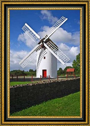 framed-canvas-print-wall-art-ireland-elphin-the-elphin-windmill-by-dennis-flaherty-8-x-12-ready-to-h